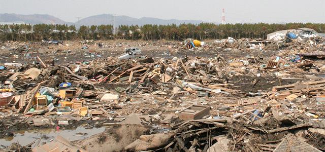 震災被災地風景